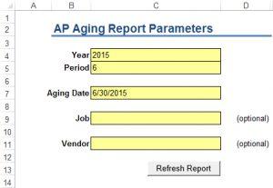 APIA Report Parameters