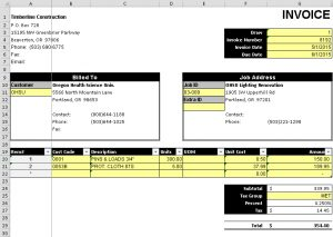 AR Invoice Form