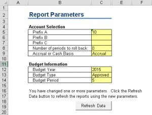 GLFS-Report Parameters