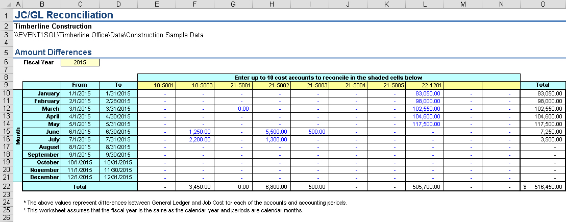 General Ledger Reconciliation Template from www.event1software.com